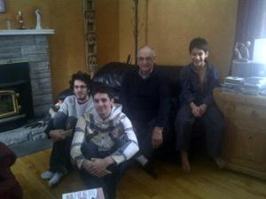 dad and the boys - Christmas 2012