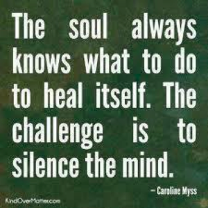 Soul knows how to heal