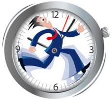 Clock with man