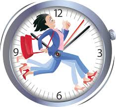 clock with woman