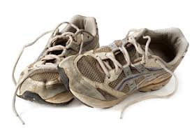 running shoes - worn out
